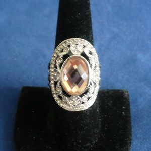 Jewelry - Topaz Cocktail Ring .925 Sterling Silver Size 9